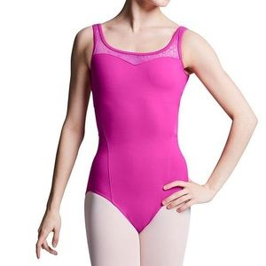 Bloch Valerie Mesh Leotard in Pink